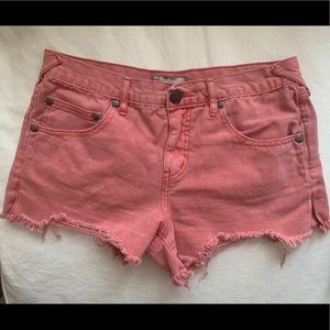 Free People - Coral jean shorts size 27